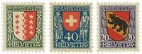Schweiz 1921 - Michel 172/74 - Ubrugt