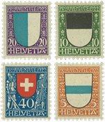 Schweiz 1922 - Michel 175/78 - Ubrugt