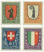 Schweiz 1923 - Michel 185/88 - Ubrugt