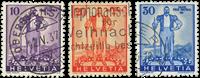 Schweiz - Pro Patria 1936 - Michel 294/96 - Stemplet