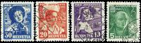 Schweiz - 1936 - Michel 306/09 - Stemplet