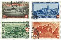 Schweiz 1944 - Michel 431/34 - Stemplet