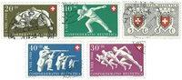 Schweiz 1950 - Michel 545/49 - Stemplet