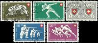 Schweiz - Pro Patria 1950 - Michel 545/49 - Stemplet