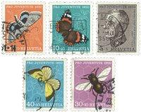 Schweiz 1950 - Michel 550/54 - Stemplet