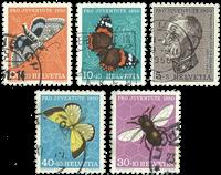 Schweiz - 1950 - Michel 550/54 - Stemplet