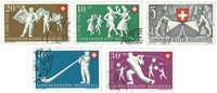 Schweiz 1951 - Michel 555/59 - Stemplet