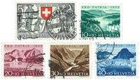 Schweiz 1952 - Michel 570/74 - Stemplet