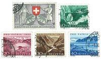 Schweiz 1953 - Michel 580/84 - Stemplet
