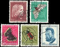 Schweiz 1953 - Michel 588/92 - Stemplet