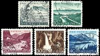 Schweiz 1954 - Michel 597/601 - Stemplet