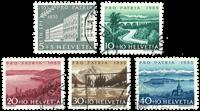 Schweiz 1955 - Michel 613/17 - Stemplet