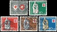 Schweiz 1957 - Michel 641/45 - Stemplet