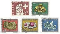 Schweiz 1958 - Michel 657/61 - Stemplet
