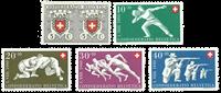 Schweiz 1950 - Michel 545/49 - Postfrisk