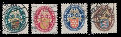 Empire Allemand - 1926 - Michel 398/401, oblitéré