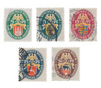 Empire Allemand - 1928 - Michel 425/429, oblitéré