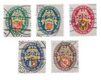 Empire Allemand - 1928 - Michel 430/434, oblitéré
