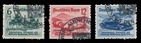 Tyske Rige 1939 - Michel 695-697 - Stemplet