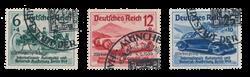 Empire Allemand - 1939 - Michel 695/697, oblitéré