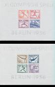 Tyske Rige 1936 - Michel miniark 5-6 - ubrugt