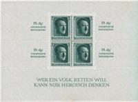 Tyske Rige 1937 - Michel miniark 9 / AFA miniark 643 - Ubrugt