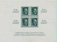 Tyske Rige 1937 - Michel miniark 9 - Ubrugt