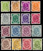 Republique Fédérale d'Allemagne - 1951 - Michel 123/138, oblitéré