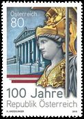 Autriche - Centenaire de la République d'Autriche - Timbre neuf