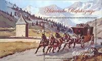 Østrig - Posthestevogn - Postfrisk miniark
