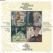 Austria - Klimt/Schiele - Mint souvenir sheet