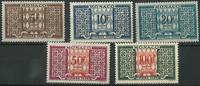 Monaco - Strafport 1946/57 postfris