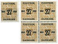 Danemark - 27 øre timbre provisoire neuf
