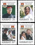 Kiribati - Harry og Meghan - Postfrisk sæt 4v