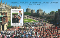 Kiribati - Mariage royal Prince Harry et Meghan - Bloc-feuillet neuf