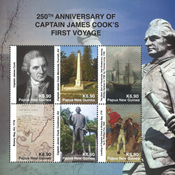 Papouasie Nlle Guinée - James Cook - 1er voyage - Série neuve 6v
