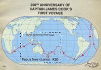 Papouasie Nlle Guinée - James Cook/1er voyage - Bloc-feuillet neuf