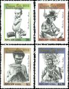 Papua Ny Guinea - Kunst Joseph Bayaga - Postfrisk sæt 4v