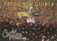 Papouasie Nlle Guinée - Production de café - Bloc-feuillet neuf 1v