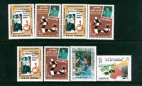 Jordan - 8 postfriske frimærker