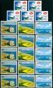 Kina - 10 postfriske frimærker