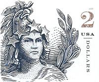 USA - Statue of Freedom $2 - Postfrisk selvklæbende frimærke