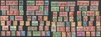 Oblitérations des Îles Féroé sur des timbres danois