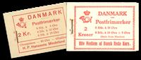 Danemark - Carnet Dybbø et carnet Croix Rouge
