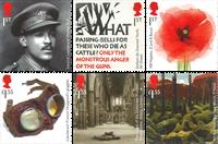 英国新邮 2018一战胜利100周年纪念 套票6枚 历史 战争 - 新票套票6枚