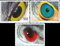 Liechtenstein - Photographie artistique, yeux d'oiseau - Série neuve 3v