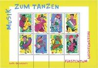 Liechtenstein - Musique pour danser - Bloc-feuillet neuf