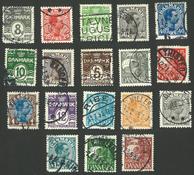 Danmark - 18 forsk. frimærker