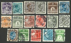 Danemark - 17 timbres diff.