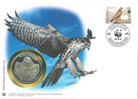 WWF Numiscover - Saker falcon